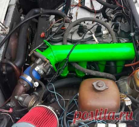 Установил на ВАЗ-2103 16-клапанный двигатель от ВАЗ-21124 Авто самоделка ВАЗ-2103 с 16-клапанным двигателем 1.6л. Далее все фото и описание....