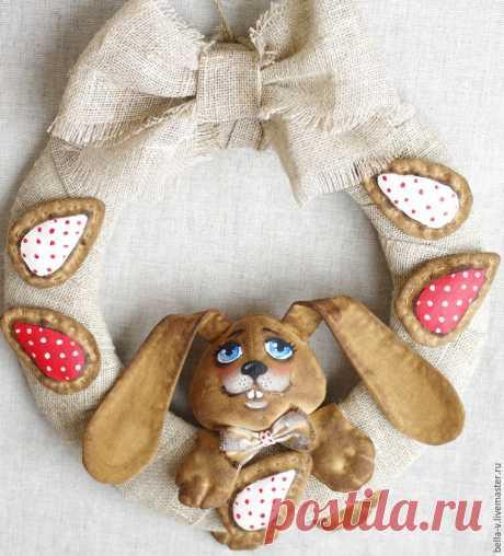 Шьем пасхальный венок с кроликом - Ярмарка Мастеров - ручная работа, handmade