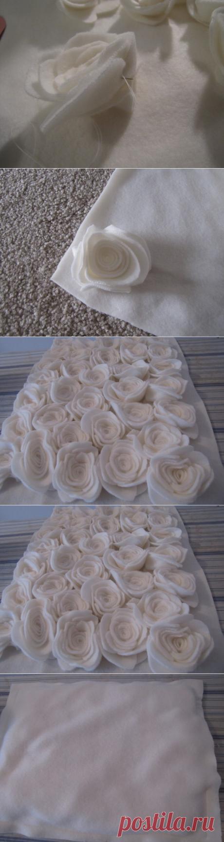 Превращение простой подушки при помощи флиса в шедевр — Сделай сам, идеи для творчества - DIY Ideas