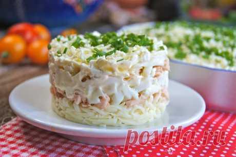 Слоеный салат с красной рыбой. Гости будут в восторге!!!(пошаговый рецепт)   Домохозяйка со стажем   Яндекс Дзен