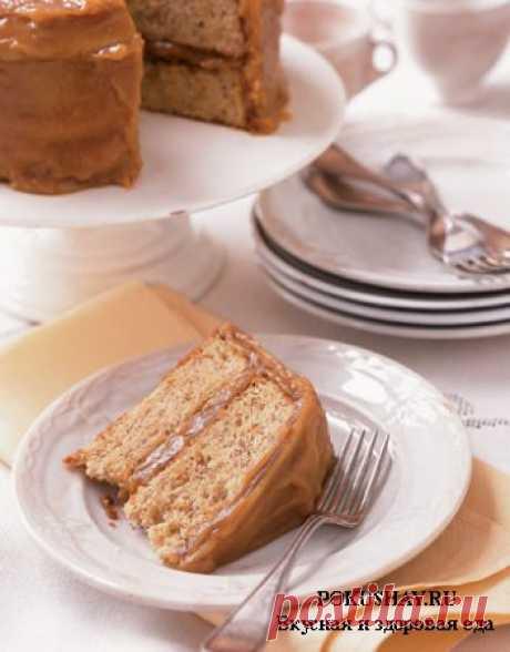 Торт «Банан в карамели» / рецепт с фото