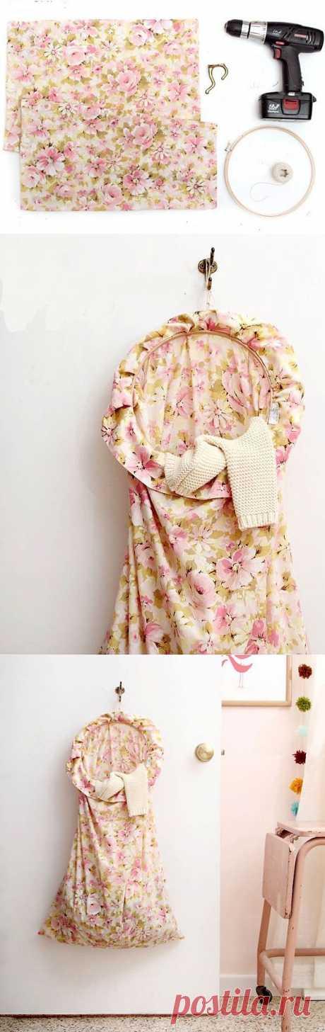 Корзина-мешок для грязного белья своими руками | Handmadeidea