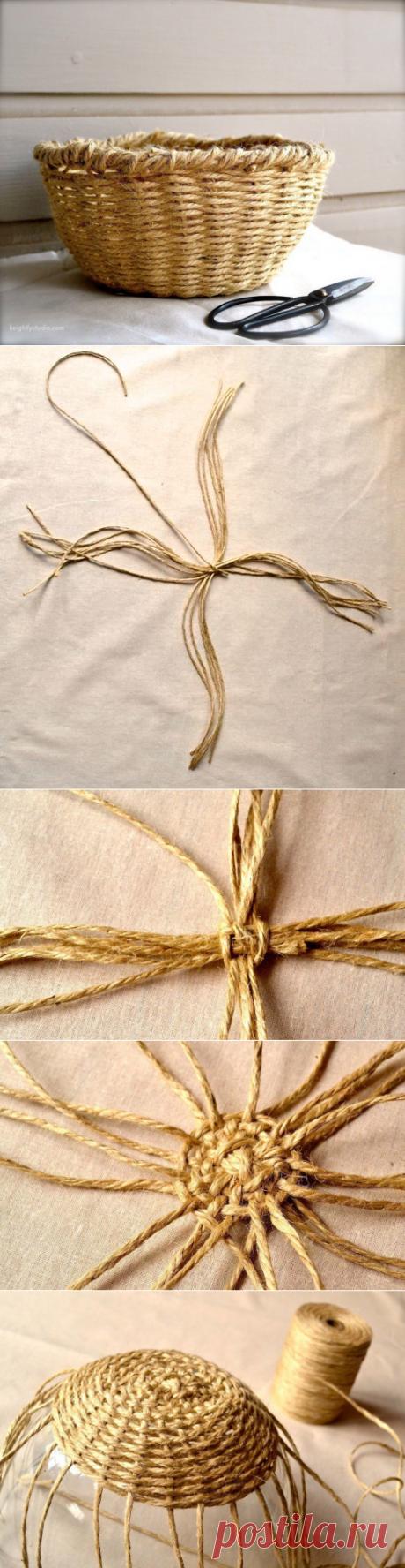 Плетём корзинку