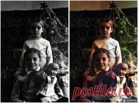 Как раскрасить старую черно-белую фотографию