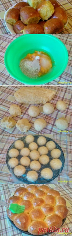 Булочки из тыквенного теста   Вкусный день