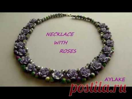"""Alake - How to do beaded """"Necklace with roses"""""""