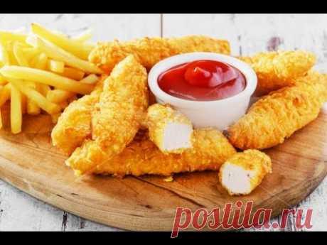 Куриное филе в кляре - Золотые пальчики рецепт - Chicken fillet in batter - YouTube