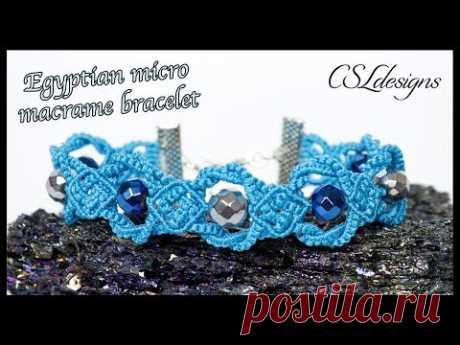 Egyptian micro macrame bracelet