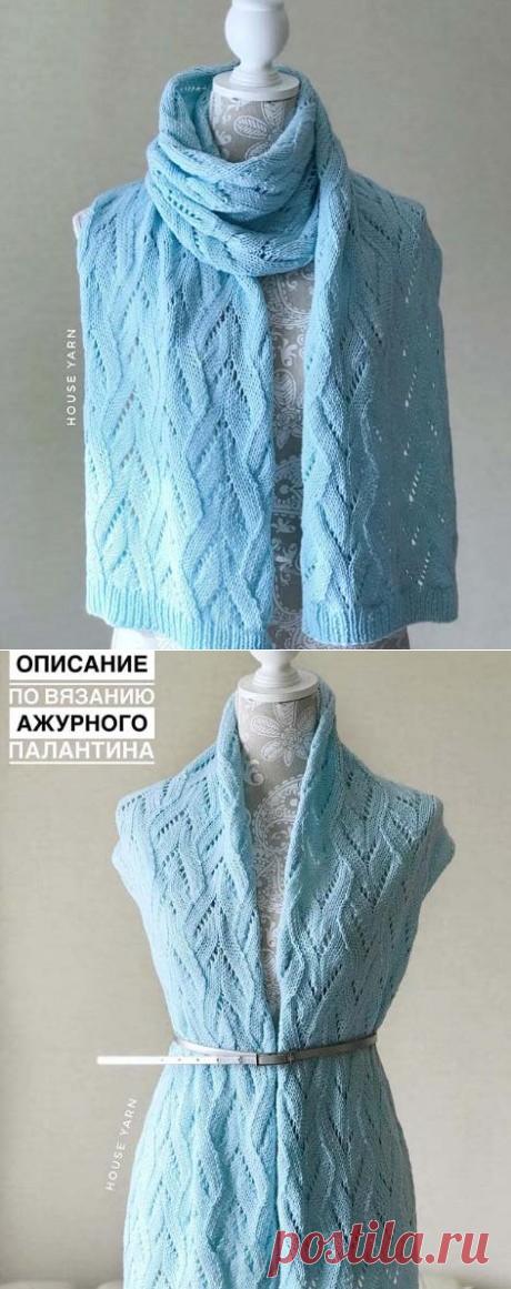 Красивый палантин спицами, Вязание для женщин
