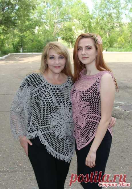 . Топ и пончо из пятиугольников - Вязание - Страна Мам
