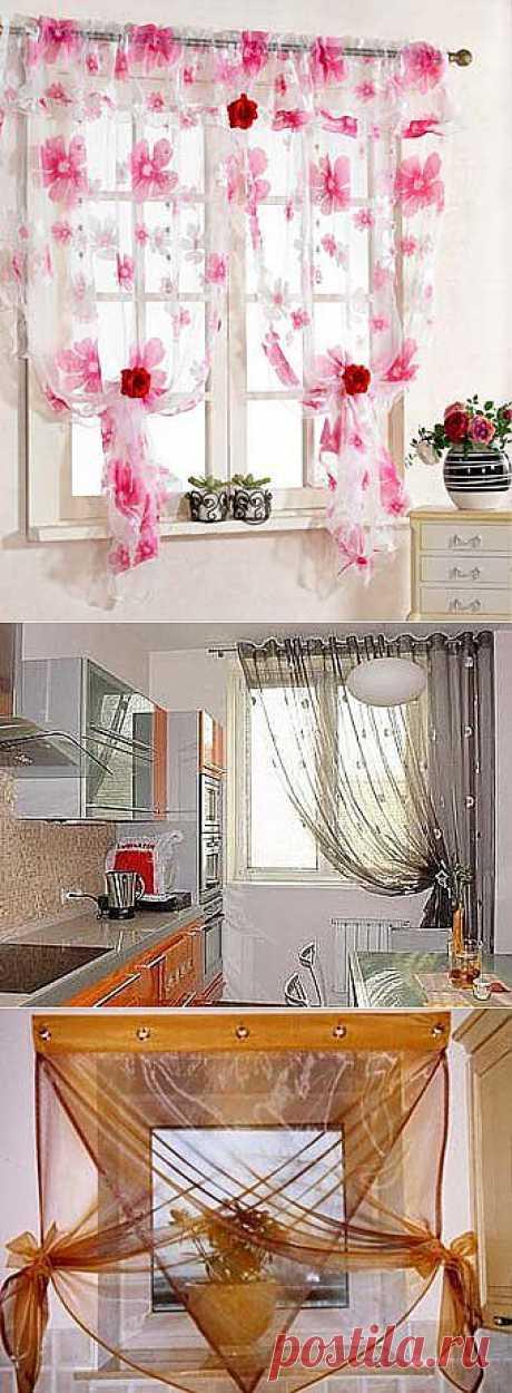 Романтичные шторы для главной комнаты в вашем доме - для кухни.