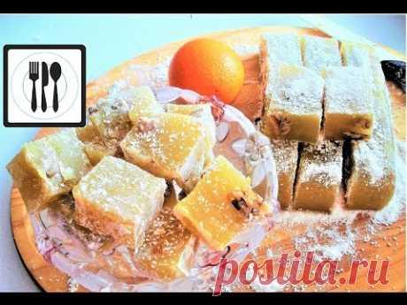 Lukum - como preparar el Alajú de la casa. De naranja con las nueces lukum. Golosinas orientales