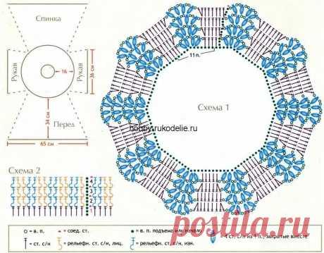 туника спицами от горловины описание схемы вязания: 11 тыс изображений найдено в Яндекс.Картинках