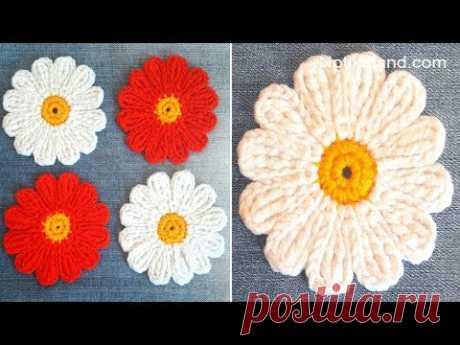 CROCHET EASY Crochet Flower Motif Tutorial