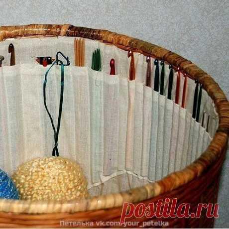 идея для хранения принадлежностей вязания