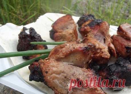 """Шашлыки из свинины   Благодаря маринаду мясо получается не жирным, оно хорошо усвоится организмом. Такой шашлык можно не бояться давать и детям. Попробуйте приготовить шашлыки под маринадом по моему рецепту. Не переживайте, мясо не будет """"резиновым"""" или жёстким. Рекомендую также в маринад добавить свои любимые приправы или сухие травы, такие как хмели-сунели, они придадут пикантный вкус мясу.   Ингредиенты:  Свинина: 2 Килограмма (Ошеек), Майонез: 200 Грамм, Лук репчатый: ..."""