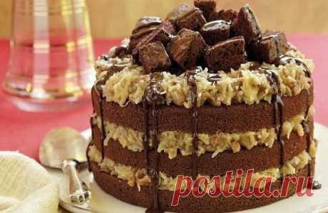 """CRAZY CAKE (""""Сумасшедший"""" пирог)!  Этот рецепт удивил меня настолько, что соорудила его прямо ночью, оторвавшись от компа.  Очень пышный, воздушный, мягкий и влажный шоколадный пирог, который, благодаря присутствию крема, можно смело считать тортом"""