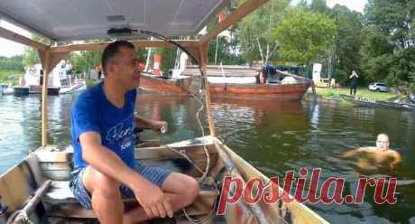 Лодка с самодельным электромотором на солнечной батарее