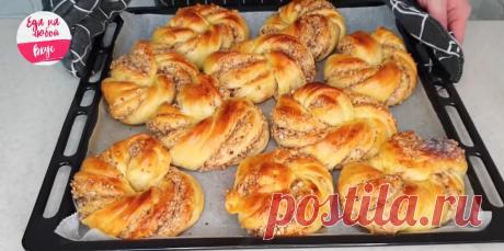 Потрясающие ароматные булочки с орехами! Аромат домашней выпечки может вскружить голову каждому! Вкусные и красивые булочки, приготовленные своими руками, порадуют ваших родных и близких. Пополните свою копилку рецептов нашим рецептом бесподобной выпечки!