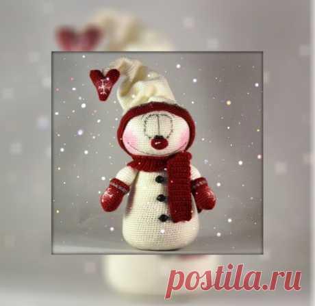 Вот такой снеговичок Автор: Halline Источник: https://vk.com/club168089570?w=wall-168089570_364 Описание в прикрепленном файле