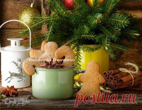 Пряное новогоднее печенье, рецепт с ингредиентами: сливочное масло, разрыхлитель, мука