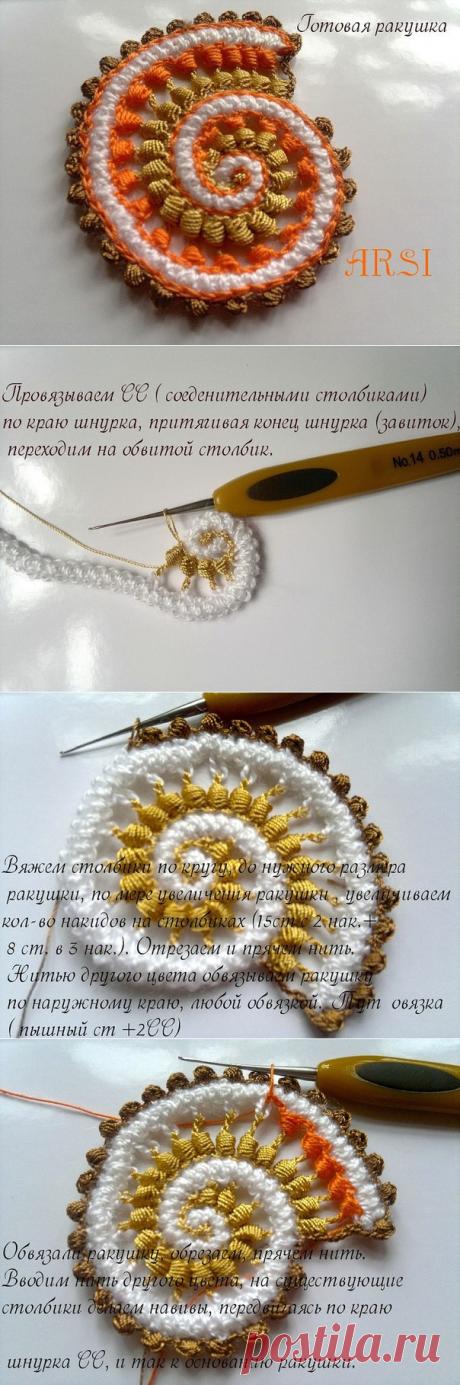 Unusual cockleshells from Simochki Rasimochki in equipment of the Irish lace!