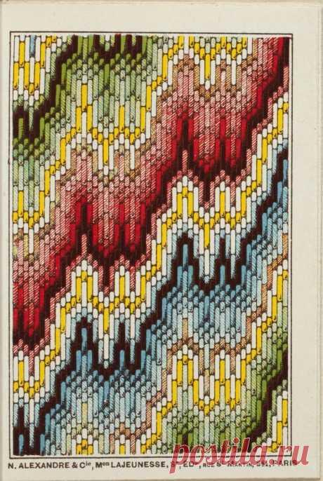 вышиваем на вязаном изделии.