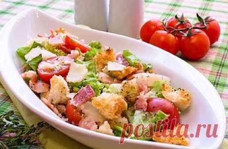 Салат с ароматными сухариками | праздничные рецепты с фото на e-salat.ru