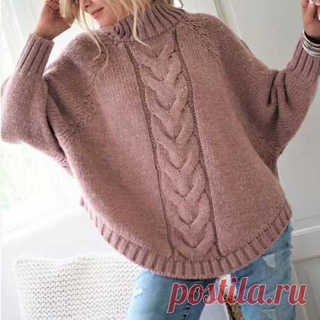 Женский свитер с глубокими линиями реглана