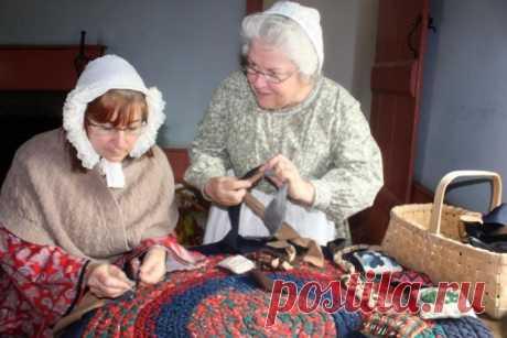 Коврики из кос Braided Rugs: теплый привет от канадских бабушек   Журнал Ярмарки Мастеров