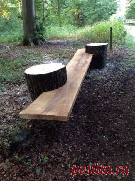 Оригинальная и необычная скамейка!