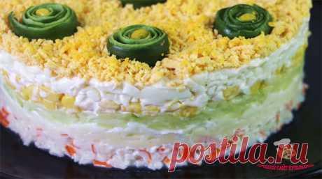 Салат с крабовыми палочками и сыром - лучший сайт кулинарии