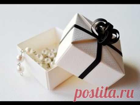 Awesome Origami Gift Box with One Sheet of Paper. La cajita para el regalo - la Pascua