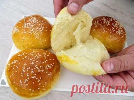 Новый, Простой Рецепт Вкуснейших Булочек для бутербродов и гамбургеров