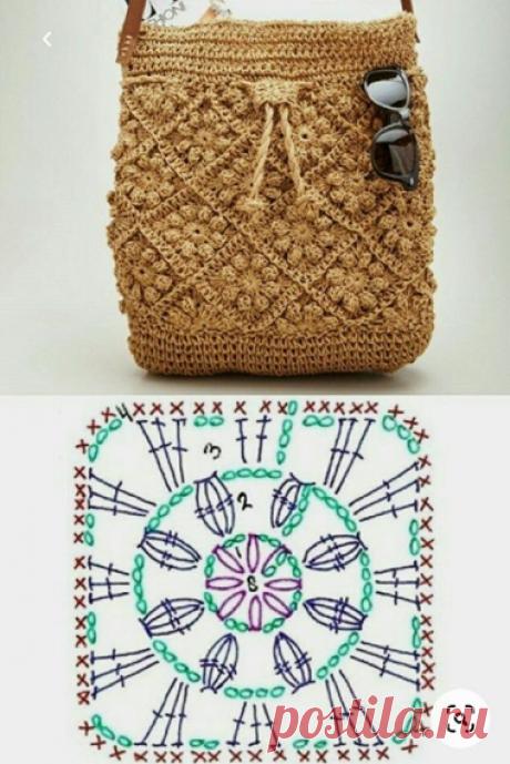 Самая полная подборка вязаных сумок со схемами | Вязание в радость | Яндекс Дзен