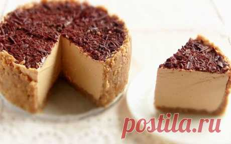 Gentle cheesecake with condensed milk without pastries