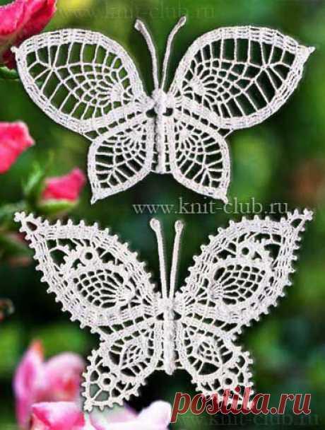 Бабочки крючком: схемы вязания