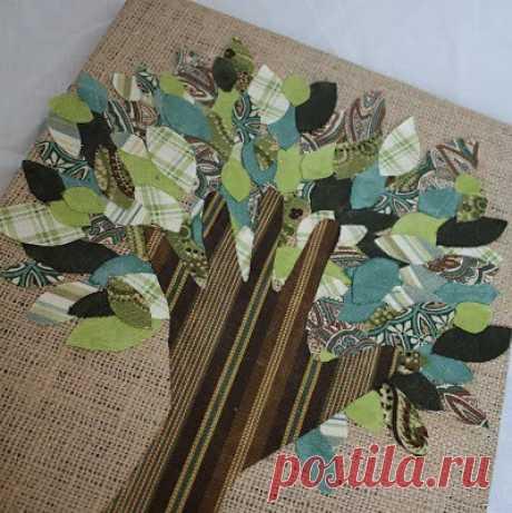 La aplicación de la tela: el árbol-mano con listikami — el maestro la clase para los niños | Mi Casa Amable — la idea de la costura, la labor de punto, la decoración de los interiores