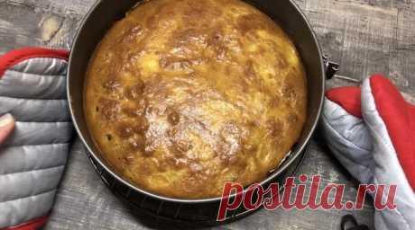 Простой пирог 4 ложки   Пикабу