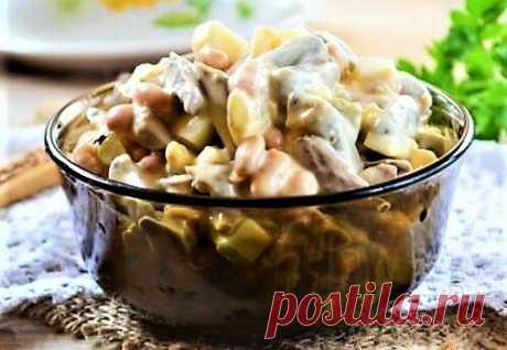 3 простых салата из куриных сердечек | Поделки, рукоделки, рецепты | Яндекс Дзен