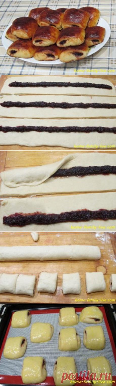 Los panecillos con la mermelada - poshagovyy la receta con las fotorecetas de cocina