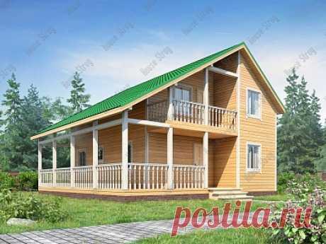 Планировка? Дом из бруса с большой террасой 9х9 Хайлат - строим в Москве и Питере