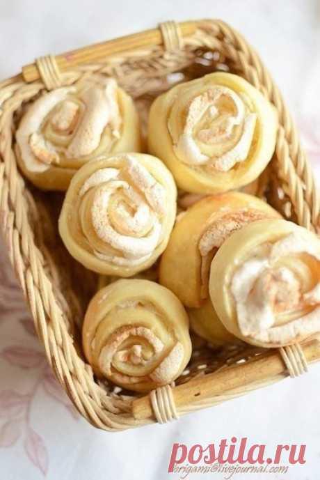 Как приготовить печенье розочки - рецепт, ингредиенты и фотографии