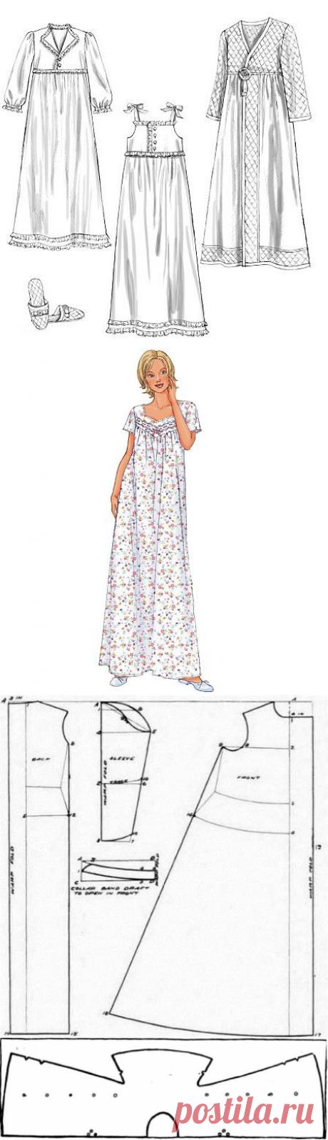 Выкройки ночных сорочек для женщин :: SYL.ru
