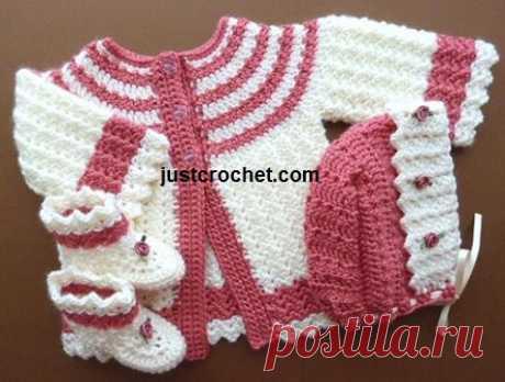 3-6 Month Baby crochet pattern JC162B