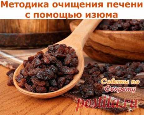 Методика очищения печени с помощью изюма