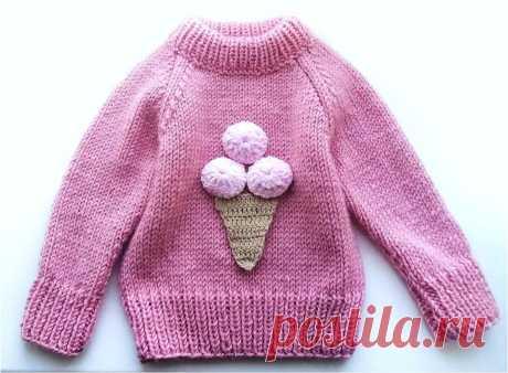 Детский свитер: вяжем реглан для девочки | Студия Hand Made | Яндекс Дзен