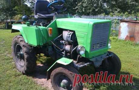 Самодельный мини-трактор: показываю конструкцию Привет всем! Решил написать про свой самодельный мини трактор. Конструкцию придумал мой дед, а собрал трактор своими руками отец.