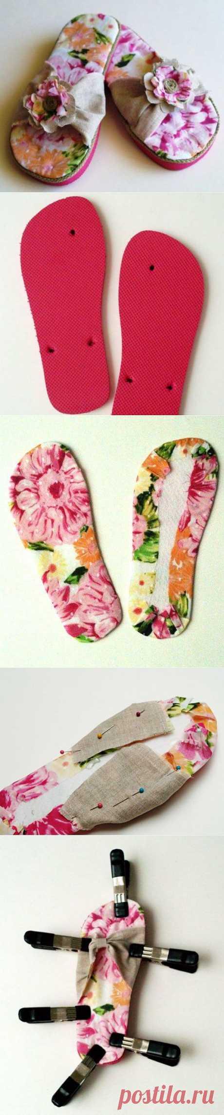 Из летней обуви в домашние тапочки / KNITLY.com - блог о рукоделии