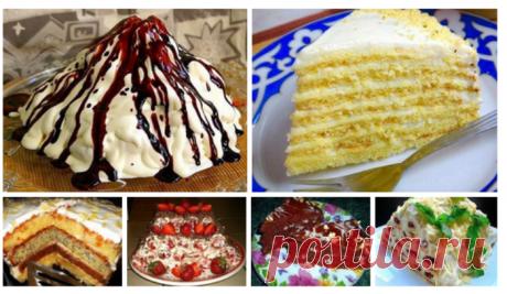 6 рецептов вкусных домашних тортов